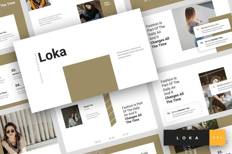 Loka - Fashion Google Slides Template example image 1