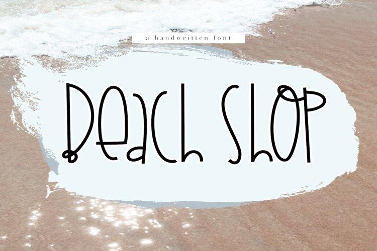 Beach Shop - A Quirky Handwritten Font example image 1