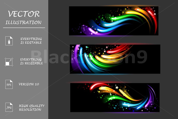 Banners with rainbow pattern example image 1