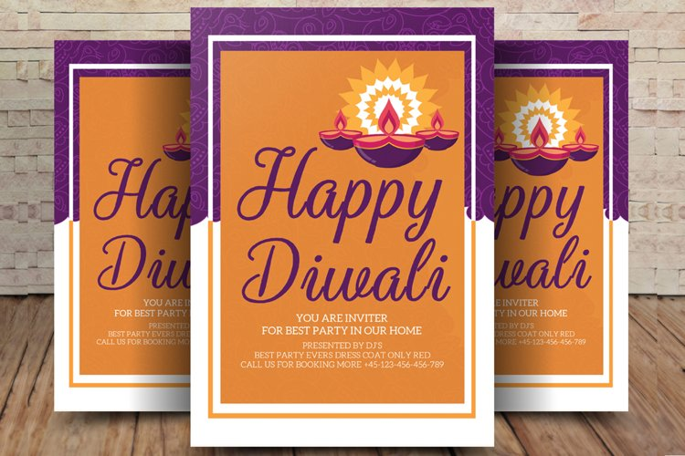 Burning Diya on Happy Diwali Holiday example image 1