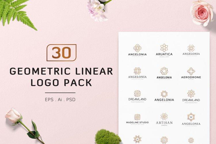 30 Geometric Linear Logo Pack