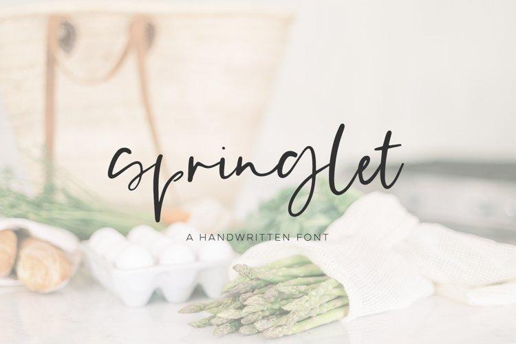 Springlet Script example image 1