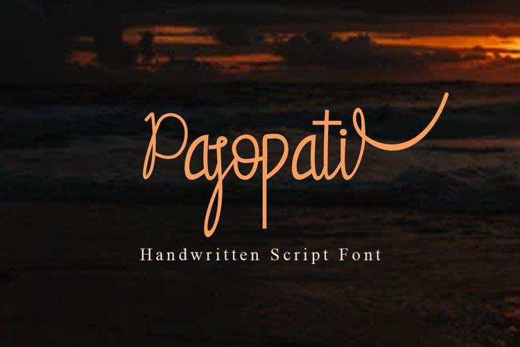 Pasopati Handwritten Script Font example image 1