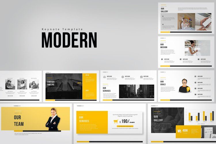 Modern Keynote Templates