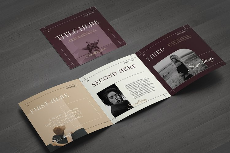 Fashion Square Trifold Brochure example image 1