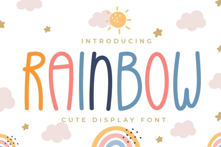 Rainbow - Cute Display Font example image 1