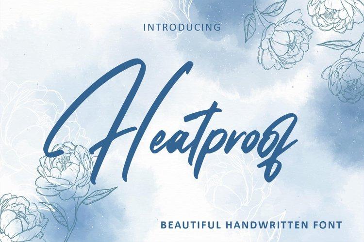 Heatproof - Handwritten font example image 1