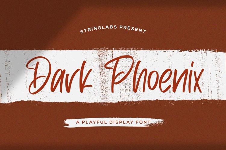 Dark Phoenix - Playful Display Font example image 1