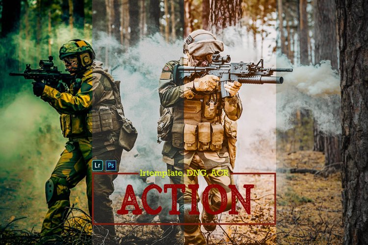 Action Presets For Lightroom Mobile, Desktop and ACR example image 1