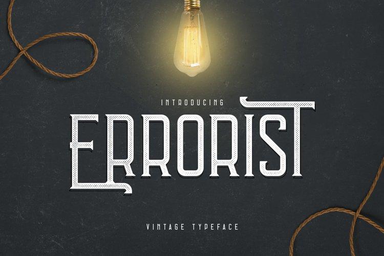 Errorist - Vintage Typeface example image 1