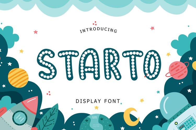 Starto Display Font example image 1