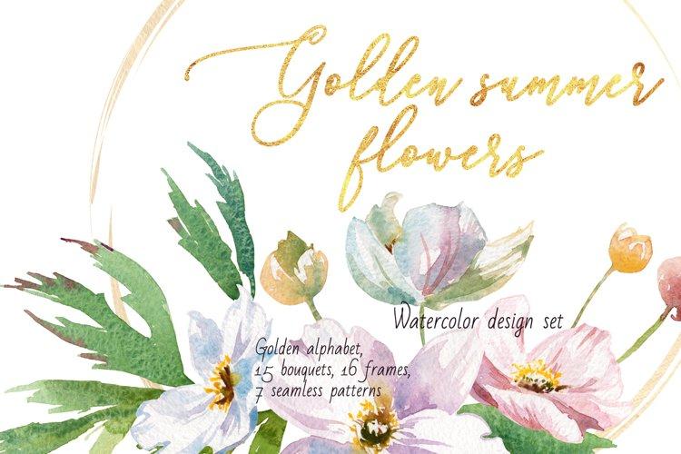Golden summer flowers