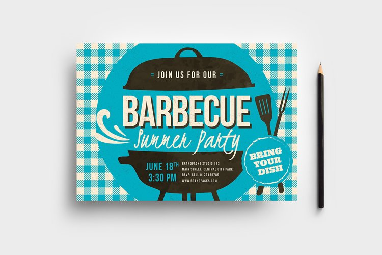 Retro BBQ Flyer Template example image 1