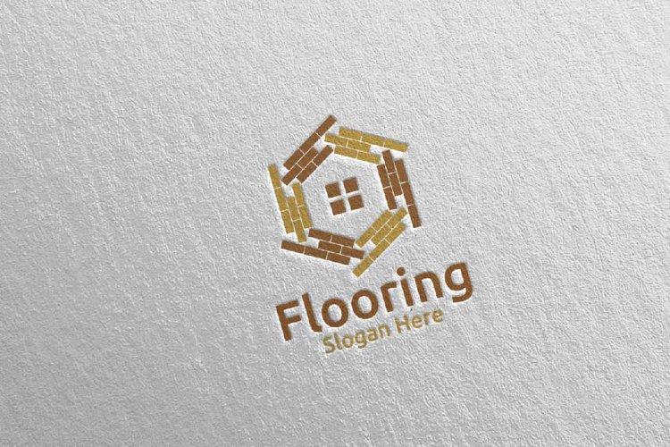 Flooring Parquet Wooden Logo 24 example image 1