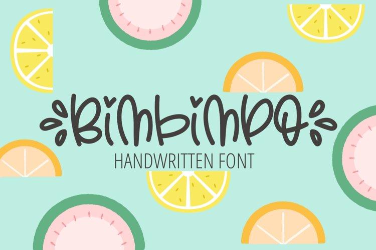 Bimbimpo - Cute Handwritten Font example image 1