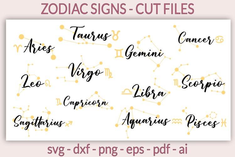 Zodiac signs SVG, Zodiac svg, Horoscope SVG, Astrology SVG example image 1