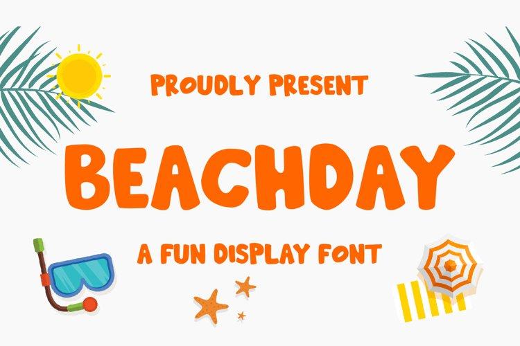 Beachday - Fun Display Font