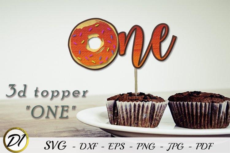 Birthday topper svg. Donut birthday one.
