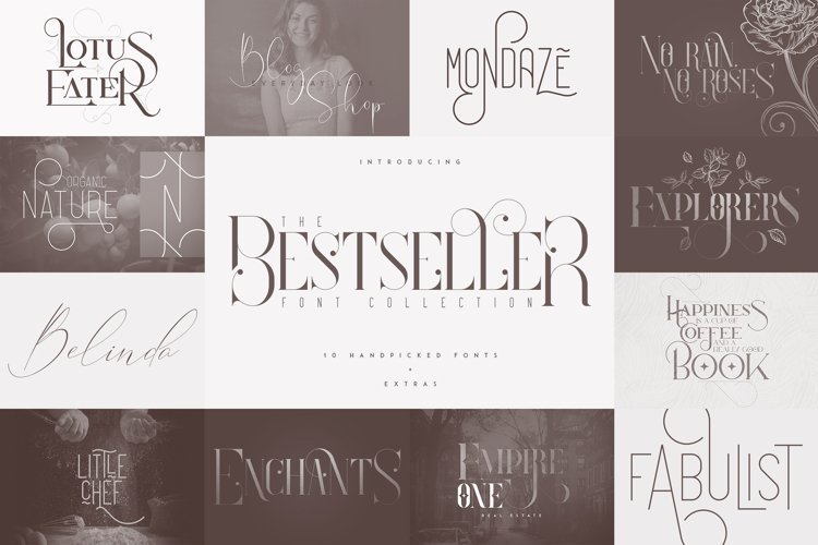 The Bestseller Font Collection example image 1