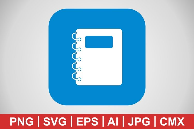 Vector Notepad Icon example image 1