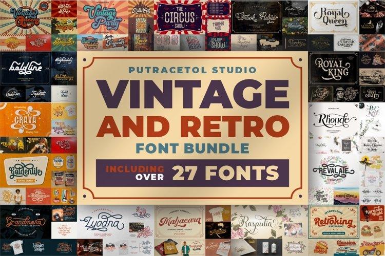 Best Seller Vintage Font Bundle - Vintage Retro Font Bundles