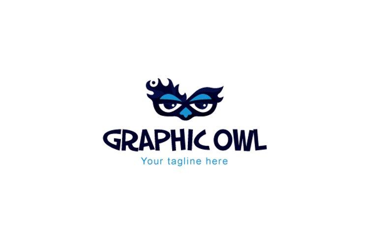 Owl Graphics - Creative Bold Smart Bird Stock Logo Template example image 1