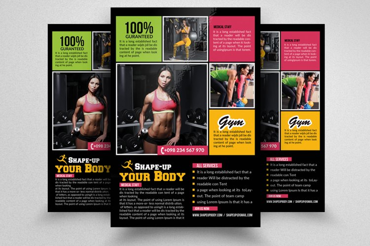 Body Fitness Gym Flyer example image 1
