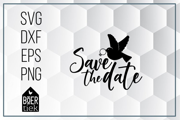 Save the date, wedding, SVG cutting file