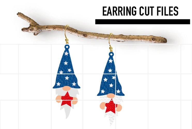Gnome USA Earrings Svg / Earrings Template