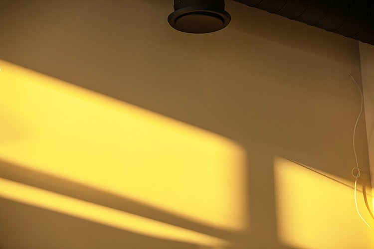 Background of a drywall during renovation with the shadow example image 1
