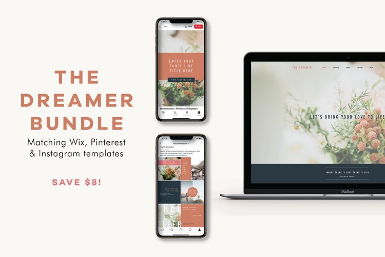The Dreamer Bundle | Wix Template | Social Templates example image 1