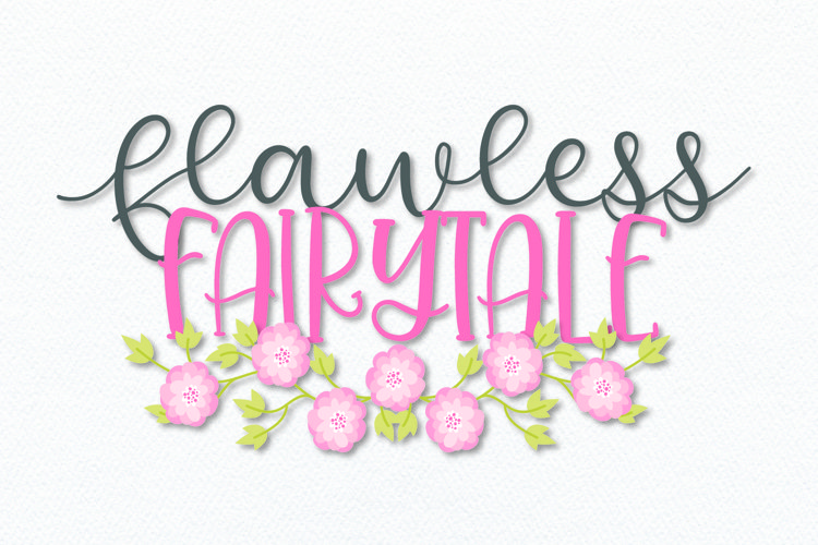Flawless Fairytale - A Magical Script & Print Font Duo example image 1