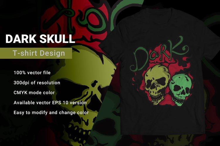 Dark Skull | T-Shirt Design example image 1