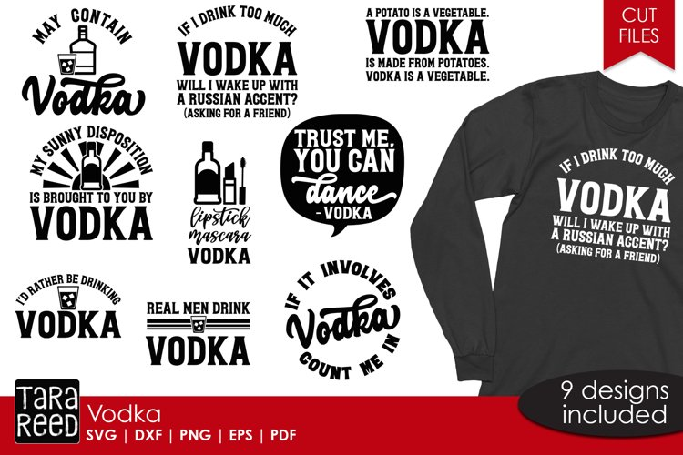 Vodka - SVG and Cut Files for Crafters