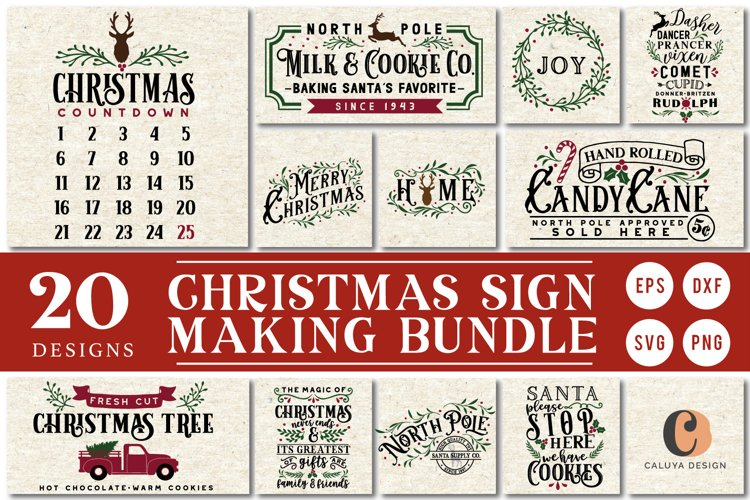 !! HUGE !! Christmas Sign Making Bundle example image 1