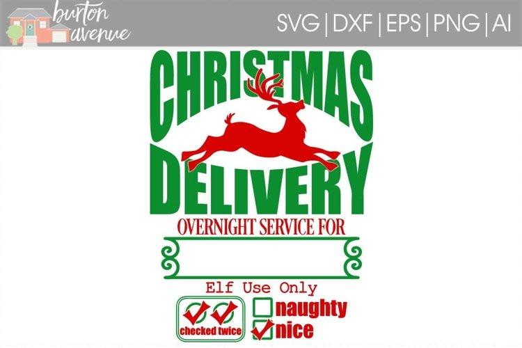 Santa Bag Christmas SVG File example image 1