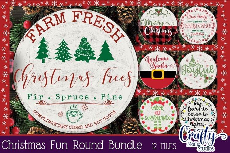 Christmas Svg Bundle, Merry Christmas, Round Sign Christmas