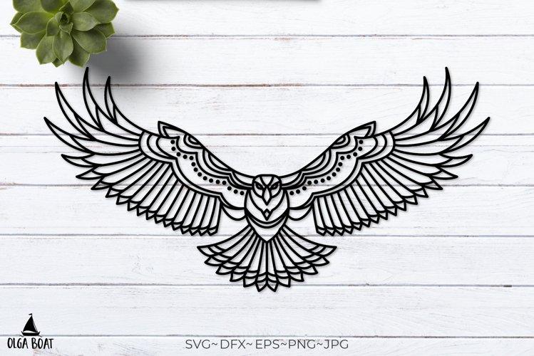 Tribal Eagle svg Eagle illustrations Flying bird svg