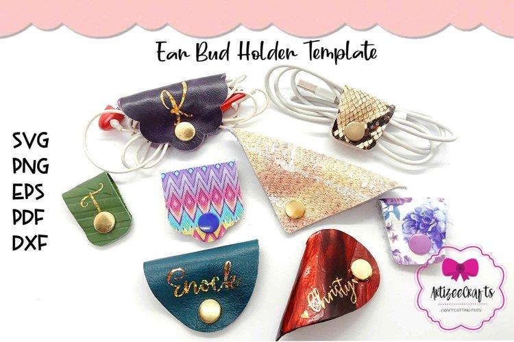 Ear Bud Holder Template|Ear Bud Wraps SVG|Ear Phones Holder example image 1
