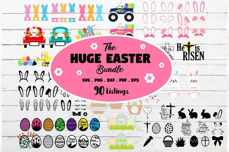 HUGE Easter bundle SVG, Easter bunny,rabbit ears,ester eggs example image 1