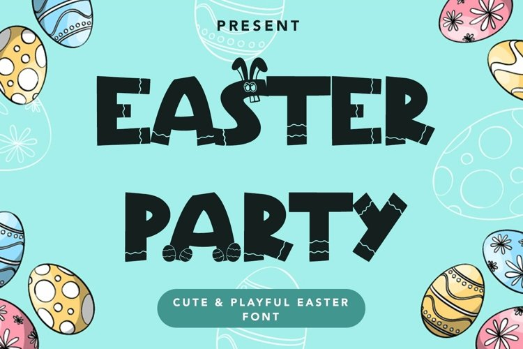 Web Font Easter Party - Cute & Playful Easter example image 1