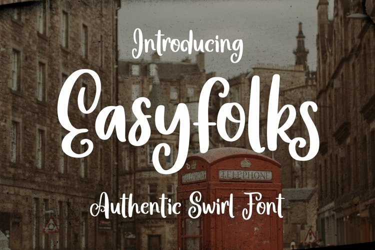 Web Font Easyfolks - Authentic Swirl Font example image 1