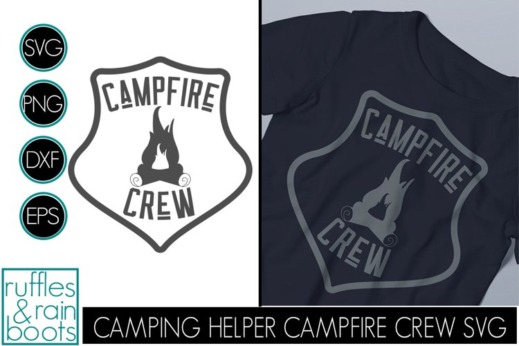 Campfire Crew SVG Badge - Styled Camping Clipart