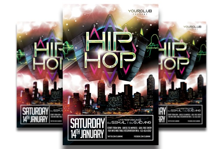 Hip Hop Flyer Template #2 example image 1