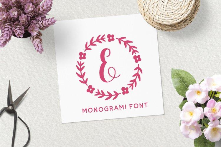 Sweet Monogram Floral example image 1