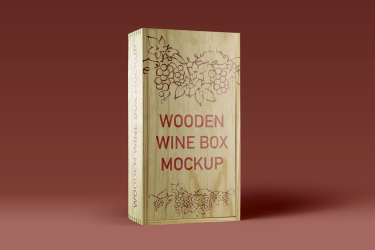 Wooden Wine Box Mockup example image 1