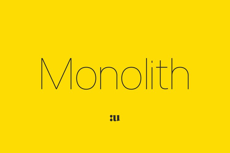 Monolith - Sans Family example image 1
