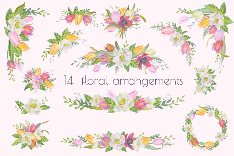 Floral Design Pack (watercolor & pastel) - Free Design of The Week Design0