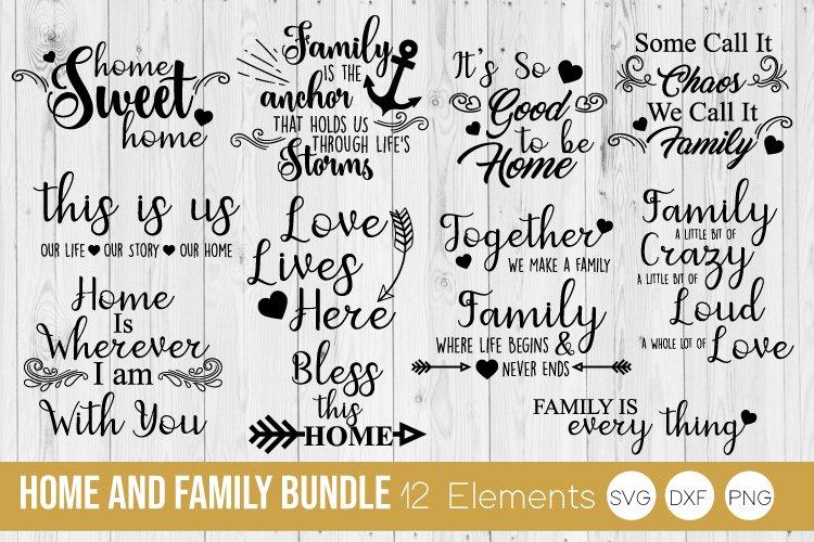 Family Bundle, Home SVG, DXF, PNG Bundle Cut Files example image 1