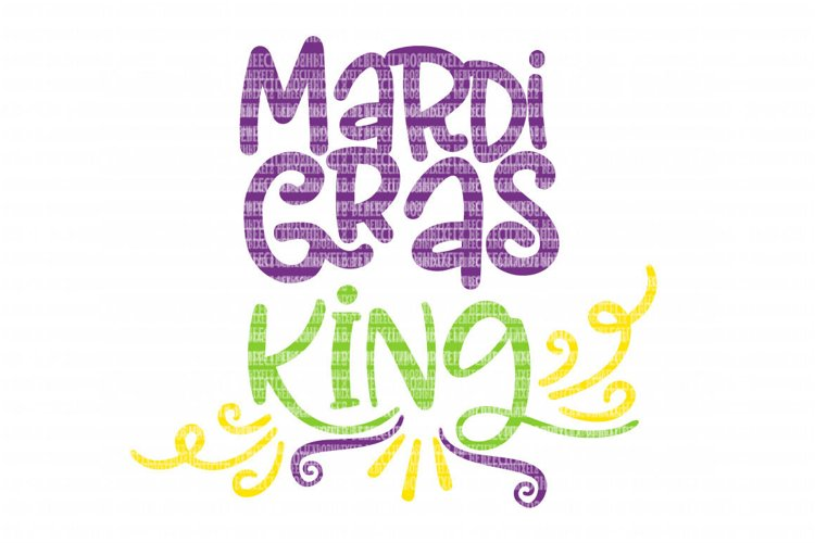 Mardi Gras King SVG Files Printable Clipart Silhouette SVG for Circuit Design Space SVG Cut Files Iron On Templates Digital Scrapbooking  example image 1